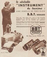 Z8421 Jumelles B.B.T. KRAUSS - Pubblicità d'epoca - 1935 Old advertising