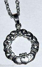 Buffy collier symbole claddagh en argent chaine pendentif celte claddagh pendant