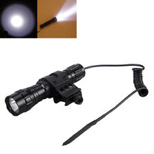 5000Lm XM-L T6 LED Tactical Flashlight Hunting Light Rifle Gun Rail Torch Mount