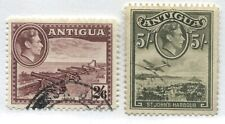 Antigua KGVI 1942-44 2/6d and 5/ used
