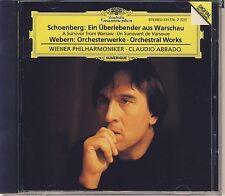 Schoenberg Webern - Abbado: Survivor from Warsaw; Orchestral Works (DG) Like New