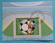 "Mauretanien: Michel Block-Nr. 64 ""Fussball-WM´86"" aus 1986, gestempelt"