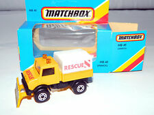 1983 Matchbox No.48 Unimog Snow Vehicle Die-cast Car Toy Lesney & Co