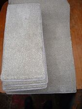 48 x 21cm 12x STAIR PADS, BEIGE FLECK THICK LUXURY PILE #2040 BLEACH CLEANABLE