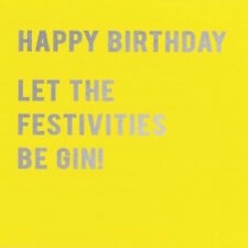 CLOUD 9 NINE GREETING CARD: HAPPY BIRTHDAY BE GIN (CLN04)  - NEW IN CELLO