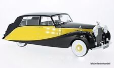 Rolls Royce Silver Wraith Empress by Hooper, schwarz/gelb RHD 1956  1:18 MCG NEU