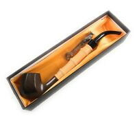10 Inch Durable Wood-Texture Smoking Tobacco Cigar Pipes Free Cleaner US Seller