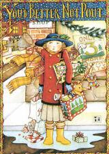 You'D Better Not Pout Shopper-Handmade Christmas Magnet-W/Mary Engelbreit art