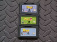 Lot Nintendo GameBoy Advance GBA Game Cartridge Only - Dogz Dogz 2 Dogz Fashion