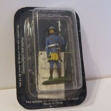 DeAgostini MS034 Medieval Knight Infantryman Lead Figure 60mm 1/32 Sealed Bliste