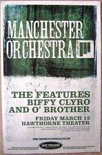 MANCHESTER ORCHESTRA 2010 Gig POSTER Portland Oregon Concert