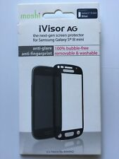 Moshi iVisor AG Screen Protector For Samsung Galaxy S3 Mini - Blue NEW