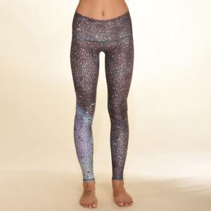 Teeki Women's Yoga Blue Mermaid Fairy Queen Hot Pant Leggings Pilates Large USA