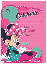Disney Minnie Mouse Party Invites Invitation With Envelope Girls Birthday 8pk