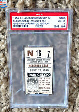1950 Mickey Mantle 1st Game as a NY Yankee Ticket (Finest Grade Known) PSA 4