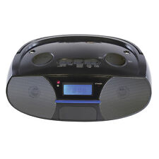 Stereo Radio MP3/Bluetooth/AM/FM/AUX/Alarm/USB/SD Remote Control Portable Black