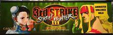 """Street Fighter 3rd (Third) Strike Arcade Marquee 26""""x8"""""""
