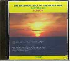 LONDON (SECTION III) NATIONAL ROLL OF THE GREAT WAR CD