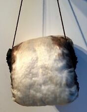 ANTIQUE RARE GOOSE FEATHER MUFF /HAND WARMER C 1910
