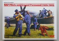 RAF Pilots Ground Personnel 1939 1945 Figures 1:48 Scale ICM Model Diorama