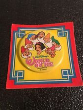 Disneyland Snow White World on Ice Pin Back Button