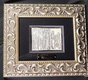 1488 WOOD BLOCK ENGRAVING, LUDOLPHUS SAXONIA, JESUS WITH MERCHANTS, INCUNABLE