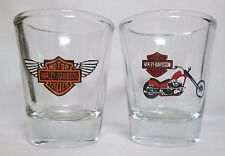 Motorcycle 2-pc. Set Logos on Clear Shot Glasses Lot #1