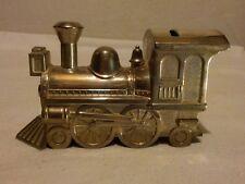 Sliver plated Piggy bank Locomotive Railway Money box Train
