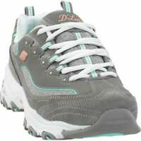 Skechers D'lites Sparkling Rain Lace Up  Womens  Sneakers Shoes Casual   - Grey
