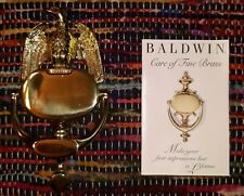 Nos Vintage Baldwin American Bald Eagle Brass Door Knocker In Box