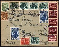 1235 - Bulgaria - Busta multicolore per Svizzera, 21/05/1952