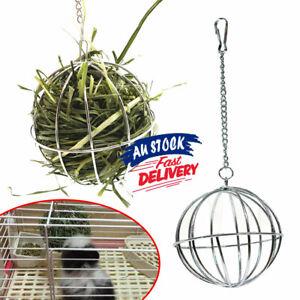 Hanging Ball Toy Sphere Feed Dispenser Hamster Rat Guinea Pig Rabbit Pet