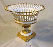 Antique 18th Cent. FRENCH EMPIRE Gilt Porcelain Basket / Bowl,Meslier Jeune