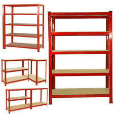 W120CM HEAVY DUTY BOLTLESS METAL SHELVING AND RACKING SHELVE STORAGE GARAGE USED