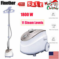 1800W Standing Clothes Fabric Steamer Iron Steam Wrinkle Remove Garment Hanger