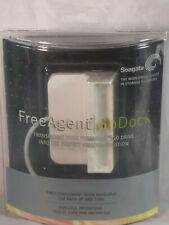 NIB Seagate Free Agent Go Dock White with Travel Case Sealed