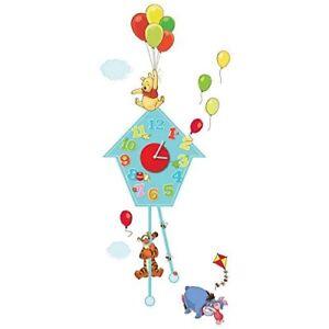Winnie The Pooh Clock - Wall Clock and Stickers Wall Art NEW