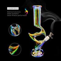 "10.24/"" Glow in the Dark Colorful Glass Hookah Bong Shisha Smoking Water Pipe"