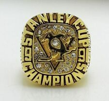 Pittsburgh Penguins LEMIEUX Hockey 1991 Stanley Cup Championship Ring 18k GP USA