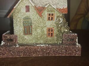 Vintage Christmas Village Cardboard Paper Putz House Japan No.5