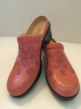 ALEGRIA Isabelle Salmon Leather Slip On Clogs Shoes Womens EU 41 US 10.5