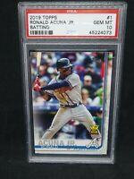 2019 Topps Ronald Acuna Jr. Series One Rookie Cup #1 PSA 10