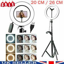 """Anillo de luz LED de 10"""" Lámpara de foto Studio Video Regulable Trípode Selfie Teléfono está parado >"""
