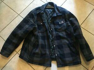 Dickies Holzfällerhemd Portland Graublau Größe 4 XL Gefüttert Jacke / Hemd