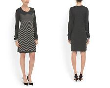 Women sweater dresses stripes Chevron bodycon LONDON TIMES L NWT
