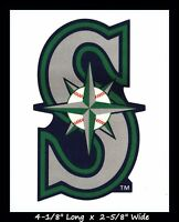 SEATTLE MARINERS BASEBALL MLB INDOOR DECAL STICKER TEAM LOGO~BUY 1 GET 1 30% OFF