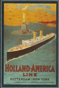 Holland-America Line, Rotterdam New York - Unused Postcard