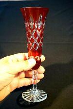 Beautiful Bohemian Ruby Glass Champagne Flute