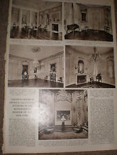 Photo article European 18th century interiors New York Met museum of art 1955 Z