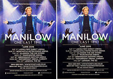 4 X BARRY MANILOW 2016 TOUR FLYERS - MANCHESTER BIRMINGHAM CARDIFF LONDON ETC